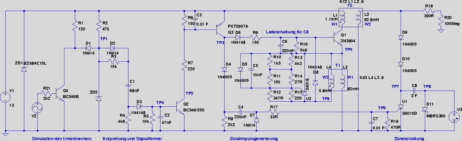 Hochspannungskondensatorzündanlage eines RO-80